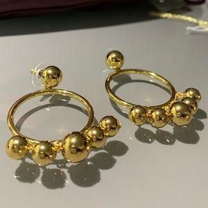 Kate Spade♠️ New York large bauble hoop earrings